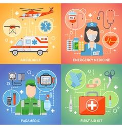 Paramedic 2x2 design concept vector