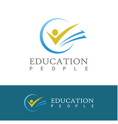 people book education logo vector image