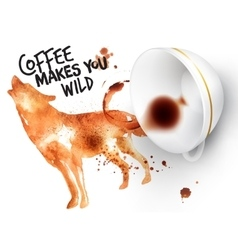 Poster wild coffee wolf vector