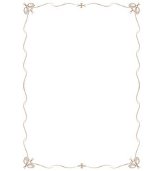 simple frame with corners in the form of vector image