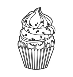 Single cupcake icon vector