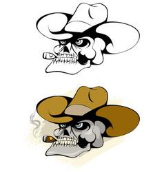 Skull in a hat vector