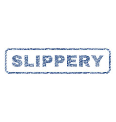 slippery textile stamp vector image vector image