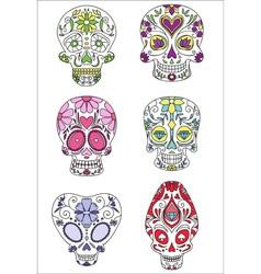 sugar skulls vector image vector image