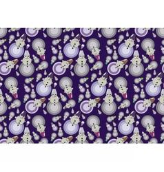Winter Snowman pattern vector image vector image