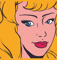 Woman pop art comic vector