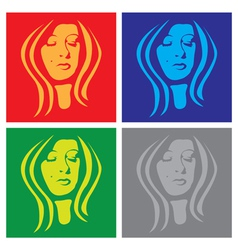 Female graphic vector image