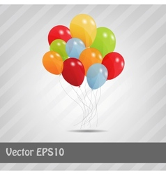 Set of colored ballons  eps 10 vector