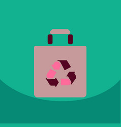 light color paper bag with recycle sign vector image