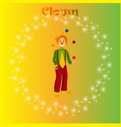 happy juggling circus clown vector image