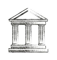 University building symbol vector