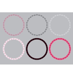 Round frames with hearts vector image