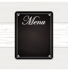 Chalk board on white wood vector