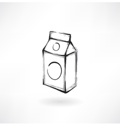 milk grunge icon vector image