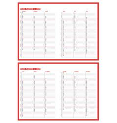 2018 year planner calendar template design print vector