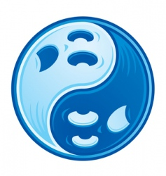 Ghost yin yang vector