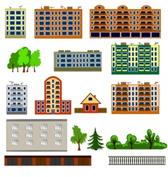 City houses set vector