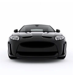 Very fast sport black car vector