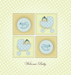 Sweet welcome baby card vector