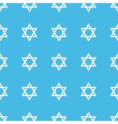 Star of david straight pattern vector