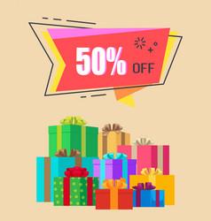 50 off exclusive discount vector image