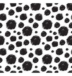 White and black seamless pattern Stylish polka dot vector image