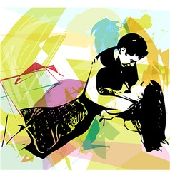 Latino dancing couple vector