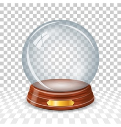 Transparent snowy glass ball vector