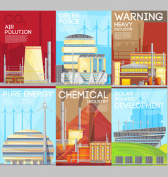 Air pollution warning ecological composition vector