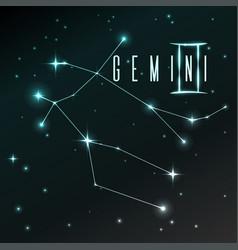air symbol of gemini zodiac sign horoscope vector image