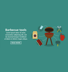 barbecue tools banner horizontal concept vector image vector image