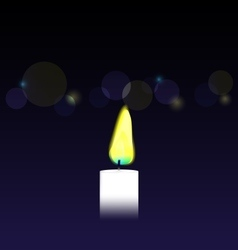 Candle on bokeh background vector image