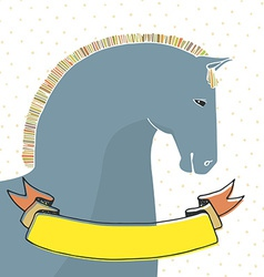 Card with horse vector