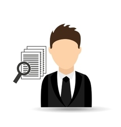 character man with document search design vector image