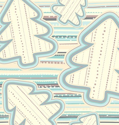 Christmas pattern in light pastel colors vector image