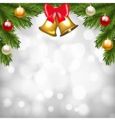 Christmas shiny card vector image vector image