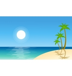 Collection stock beach scenery vector image vector image