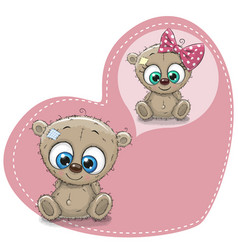 cute cartoon dreaming teddy bear vector image vector image