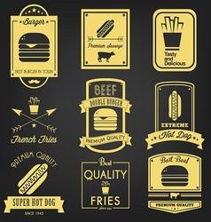 Fast Food Vintage Label vector image vector image