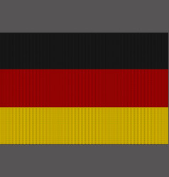 flag of germany on a knitted woolen texture vector image vector image