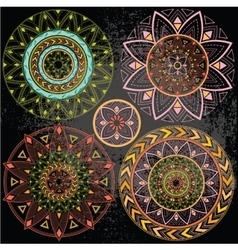Geometric mandala in pastel colors vector
