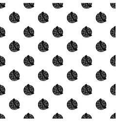 Handset and globe pattern vector