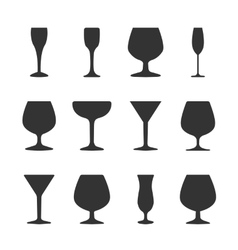 Icons wineglasses vector image vector image