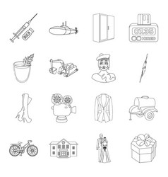 Medicine wedding sport and other web icon in vector