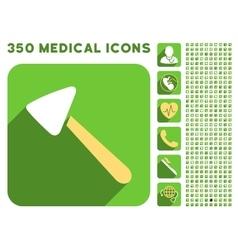 Neurologist hammer icon and medical longshadow vector