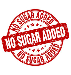 No sugar added red grunge stamp vector