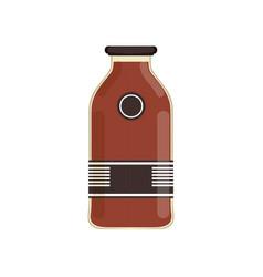plum eco juice in transparent bottle with branding vector image