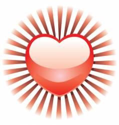 radiant heart vector image