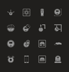robot vacuum cleaners - flat icons vector image