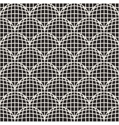 Seamless black and white retro circles grid vector